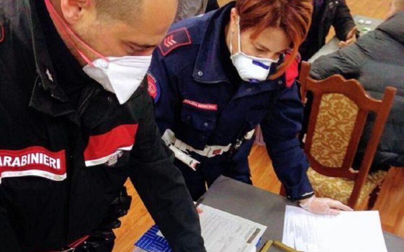 Giro di vite dei carabinieri in locali e sale giochi. Controlli anche su chi si sposta per lavoro: un denunciato