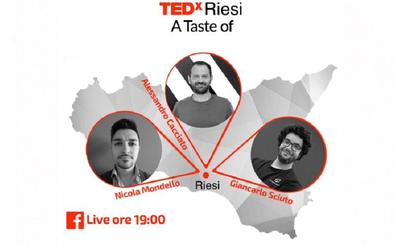 Tedx Riesi, diretta alle 19. Ospiti Giancarlo Sciuto, Alessandro Cacciato e Nicola Mondello