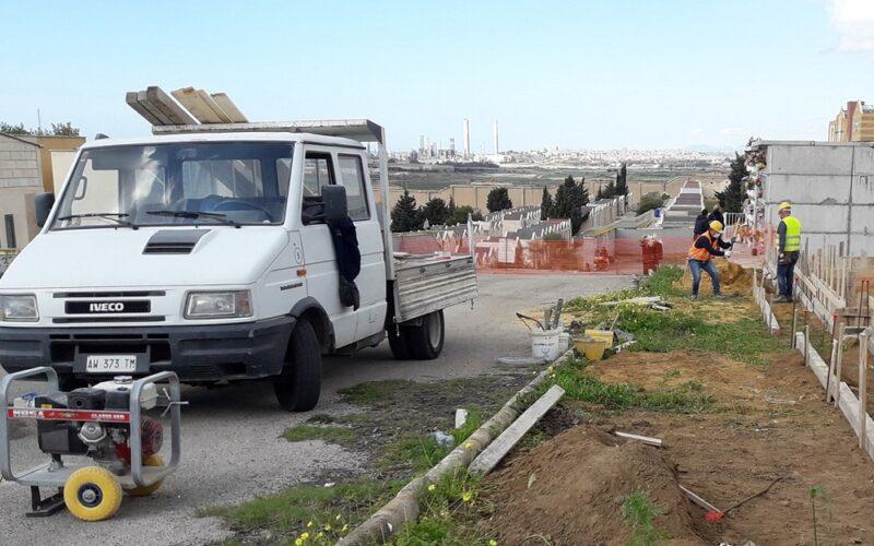 Gela: sopralluogo tecnico a Farello, al via lavori per la costruzione di 320 loculi. Saranno ultimati in 60 giorni