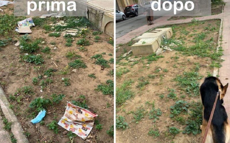 Gela: Giornata mondiale della terra, chi la celebra raccogliendo i rifiuti sotto casa. Il bel gesto di una studentessa