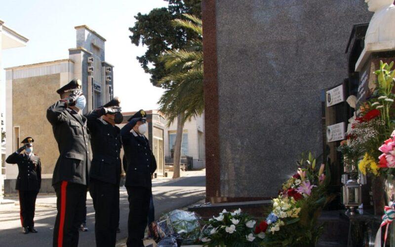 Niscemi: l'Arma ricorda il carabiniere Vincenzo Caruso, ucciso in Calabria nell'adempimento del proprio dovere