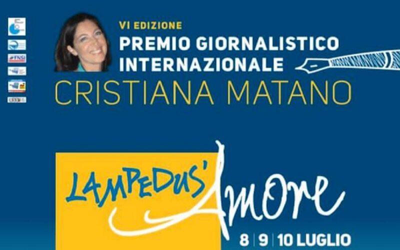 Lampedus'amore, domani la presentazione del premio giornalistico internazionale intitolato a Cristiana Matano