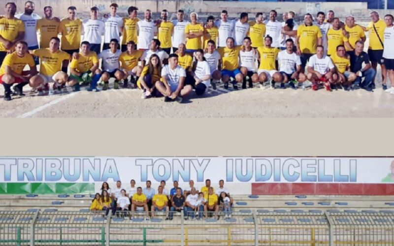 Niscemi non dimentica, tribuna dello stadio intitolata a Tony Iudicelli. Giornata del sorriso in sua memoria